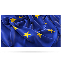 European flag as symbol of the coverage.