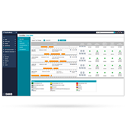 Telematiksystem TachoWeb Live dargestellt als Bildschirmfoto