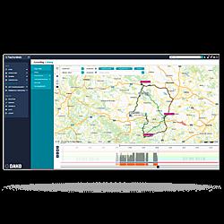Automatische Tourenplanung im TachoWeb als Screenshot dargestellt.